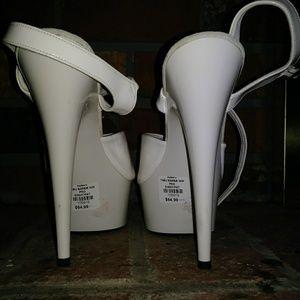 White Tabu Sexy Heels